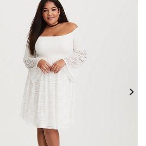 White/ cream skater dress